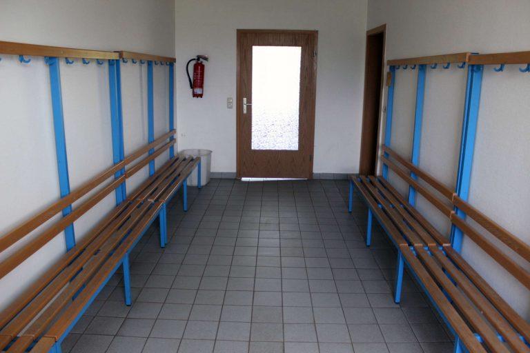 Kabine im Vereinsheim