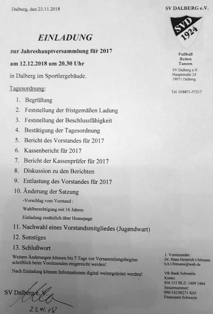 20181212 Jahreshauptversammlung