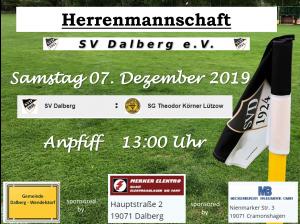 Herren  15. Spieltag    SV Dalberg : SG Theodor Körner Lützow